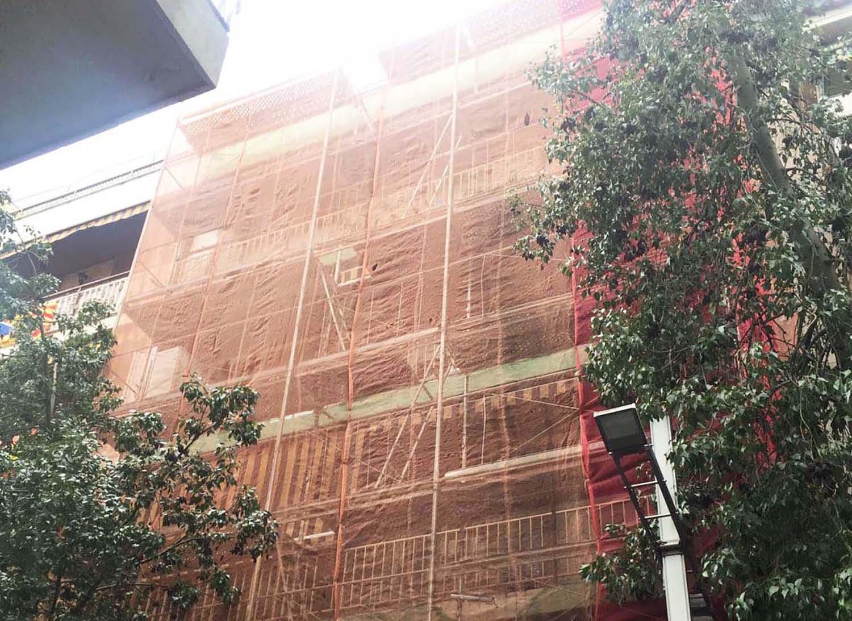 Proyector de rehabilitación barcelona Plaça de Santa Eulalia 13 Barcelona - andamios img top